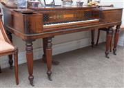 Sale 8800 - Lot 43 - John Broadwood & Sons Regency rosewood square piano, 5 & 1/2 octaves, makers to his Majesty and the Princes, Golden Square, London,...