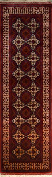 Sale 8402C - Lot 39 - Afghan Belgic Runner 300cm x 80cm