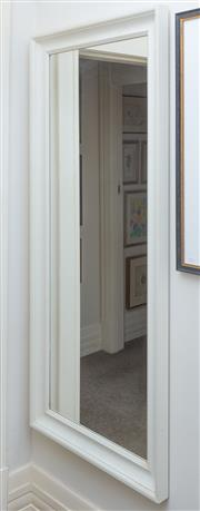 Sale 8800 - Lot 233 - A large white painted framed rectangular mirror, 165 x 74cm