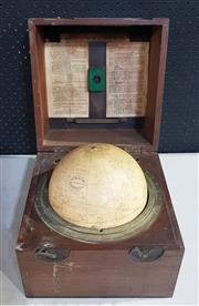 Sale 8976N - Lot 336 - Kelvin & Hughes Ltd. Star Globe for Celestial Navigation with Instructions in Timber Case (Case - h:263 x w:265 x d:267mm)