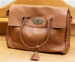 Sale 9165H - Lot 81 - A Mulberry leather bag in tan colour with dust bag, Height 30 x Length 40 x Width 11 cm