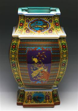 Sale 9175 - Lot 89 - A Polymorphic Polychrome Chinese Vase (H:48cm)