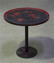 Sale 7968B - Lot 21 - Metal Wine Table in Red