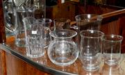 Sale 8098A - Lot 36 - A Collection Of Glass Jugs and Vases