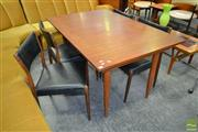 Sale 8235 - Lot 1089 - Teak Dining Suite with 4 Chairs and Extension Dining Table