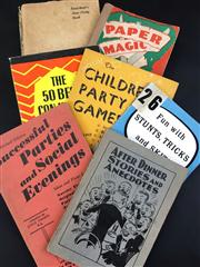 Sale 8539M - Lot 149 - 7 Vintage Vols., including Paper Magic by Will Blyth. 3rd edn. 1939 & Fun with Stunts, Tricks and Skits by Bill Barnum, 1956