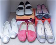 Sale 8593A - Lot 125 - Six pairs of womens shoes size 39.5 - 9M, including pink leather Rockport loafers, Filippo Raphael neutral court shoes various cond...