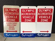 Sale 9006 - Lot 1076 - Sydney 2000 Olympics Parking Signs x 3 (44 x 22.5cm)