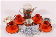 Sale 9010D - Lot 779 - A Villeroy & Boch Acapulco teapot (H18cm) and cup saucer with other ceramics incl. Royal Albert