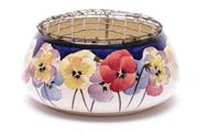 Sale 9027 - Lot 63 - Royal Doulton Pot Pourri Decorated With Poppies (Dia 18cm) (Numbered D4049)