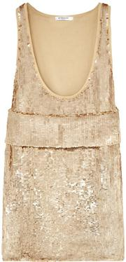 Sale 8060B - Lot 377 - A GIVENCHY SILK AND GOLD SEQUINED TOP; (12 sequins missing) from the pre-fall catalogue 2014