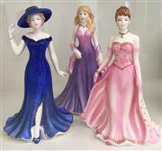 Sale 8338A - Lot 148 - A group of three Royal Doulton Figures From the heart series, A gift for you HN 5452; Forever Yours HN5457, Especially for you HN 5449