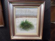 Sale 8417T - Lot 2067 - Audrey Johnson, Grasses in the Snow, oil on board, 29x  24cm, signed and dated lower right