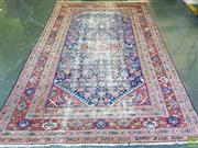 Sale 8576 - Lot 1052 - Antique Persian Possibly Ferahan Wool Carpet, with all-over herati to the medallion corners & dark blue field (300 x 200cm - heavy w...