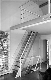 Sale 8721A - Lot 30 - David Moore (1927 - 2003) - Staircases at Broken Bay House, 1984 30 x 20cm