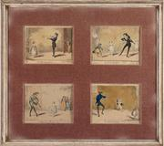 Sale 8844 - Lot 62 - After G Cruickshank - The Dancing Lesson in four parts