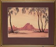 Sale 8945 - Lot 2037 - Leslie Fisher (1911 - 1974) - Red Rocks, Central Australia 28 x 38 cm (frame: 42.5 x 51.5 x 3 cm)