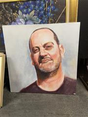 Sale 8981 - Lot 2072 - A Contemporary Portrait of The Urban Man, acrylic on canvas 92 x 92cm, unsigned