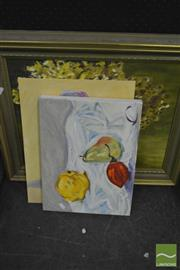 Sale 8214 - Lot 2109 - Collection of (3) Oil Paintings, various sizes