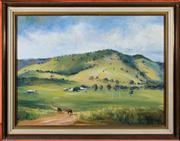 Sale 8313A - Lot 18 - Brian Agnew - Rural landscape 44 x 60cm