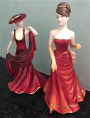 Sale 8338A - Lot 149 - A pair of Royal Doulton Figures from the heart series to someone special HN 55450 and True Romance HN5460
