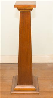 Sale 8368A - Lot 6 - A small maple square pedestal of tapering form, H 77cm