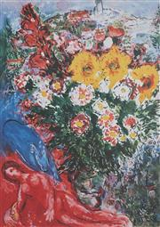Sale 8881A - Lot 5018 - After Marc Chagall (1897 - 1985) - Abstract Flowers 68.5 x 49.5 cm