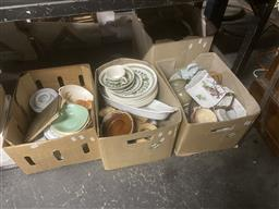 Sale 9101 - Lot 2345 - 4 boxes of sundries inc mostly ceramics