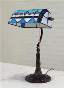 Sale 9174 - Lot 1026 - Bankers style table lamp depicting dragonfly (h45cm)