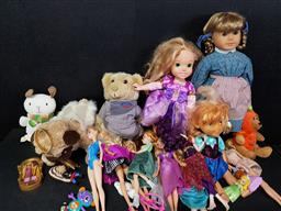 Sale 9254 - Lot 2195 - Box of Toys incl Figures by Mattel & Disney Characters