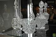Sale 8226 - Lot 56 - Cut Crystal Decanter With Another And A Sweets Dish
