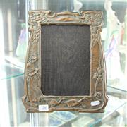 Sale 8300 - Lot 26 - Art Nouveau Copper Embossed Frame with a Lady & Geese
