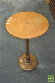 Sale 8331 - Lot 1324 - Timber Wine Table with Barley Twist Support