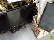 Sale 8464 - Lot 2260 - Panasonic TV with Remote (in Office), Massager Seat & Hearing Impaired Phone