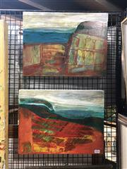 Sale 8845 - Lot 2056 - Artist Unknown (2 works) - Coastal Landscape, 2008 30.5 x 41cm, each