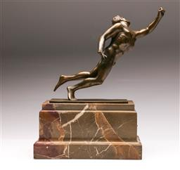 Sale 9122 - Lot 22 - A Bronze On Marble Figural Study Finis By Torzok Karoly (H: 38cm W: 32cm D: 13cm)