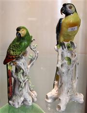 Sale 7969 - Lot 92 - 2 Parrot Figures one chipped