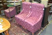 Sale 8105 - Lot 1078 - 3 Upholstered Chairs w Storage Below