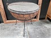 Sale 8777 - Lot 1004 - Tribal hand Drum on Stand