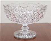 Sale 8908H - Lot 64 - Impressive Large Waterford footed cut crystal bowl. Diameter 28cm