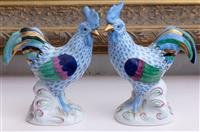 Sale 8934H - Lot 23 - A pair of Herend cockerels, Height 14cm