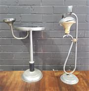 Sale 8959 - Lot 1024 - Two Art Deco Smokers Stands (H: 73cm)