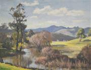 Sale 8000 - Lot 351 - John Salvana (1873 - 1956) - Untitled (Landscape with River) 1945 oil on canvas on board