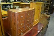 Sale 8093 - Lot 1411 - Small Timber Cabinet w Door & Small Timber Chest of Drawers