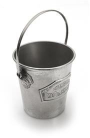 Sale 8202A - Lot 84 - A rare size French Art Deco silver plate 1/2 bottle size champagne bucket by Moet & Chandon, H 14cm