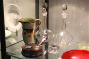 Sale 8340 - Lot 55 - Crystal Cut Decanter with Other Wares incl Myott Jug