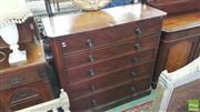 Sale 8402 - Lot 1093 - Victorian Mahogany Chest of Six Drawers with Plinth Base (some losses)