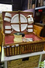 Sale 8523 - Lot 1095 - Fitted Picnic Basket