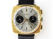 Sale 8644W - Lot 35 - BREITLING TOP TIME CHRONOGRAPH WRISTWATCH; ref; 2002 with Panda dial, 2 black registers, tachymetre track, cushion shape gold plated...