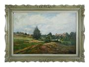 Sale 8828A - Lot 85 - Antique French Impressionist, attributed to Eugene Tellier (1872-1958)  Provence Landscape oil on canvas on board  50 x 75 cm signed